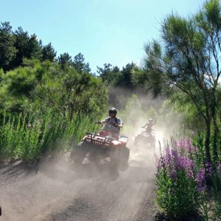 Etna quad polvere - dust quad driving