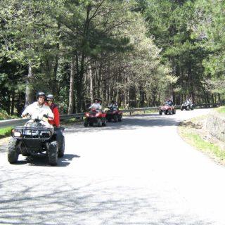 Quad driving Etna group